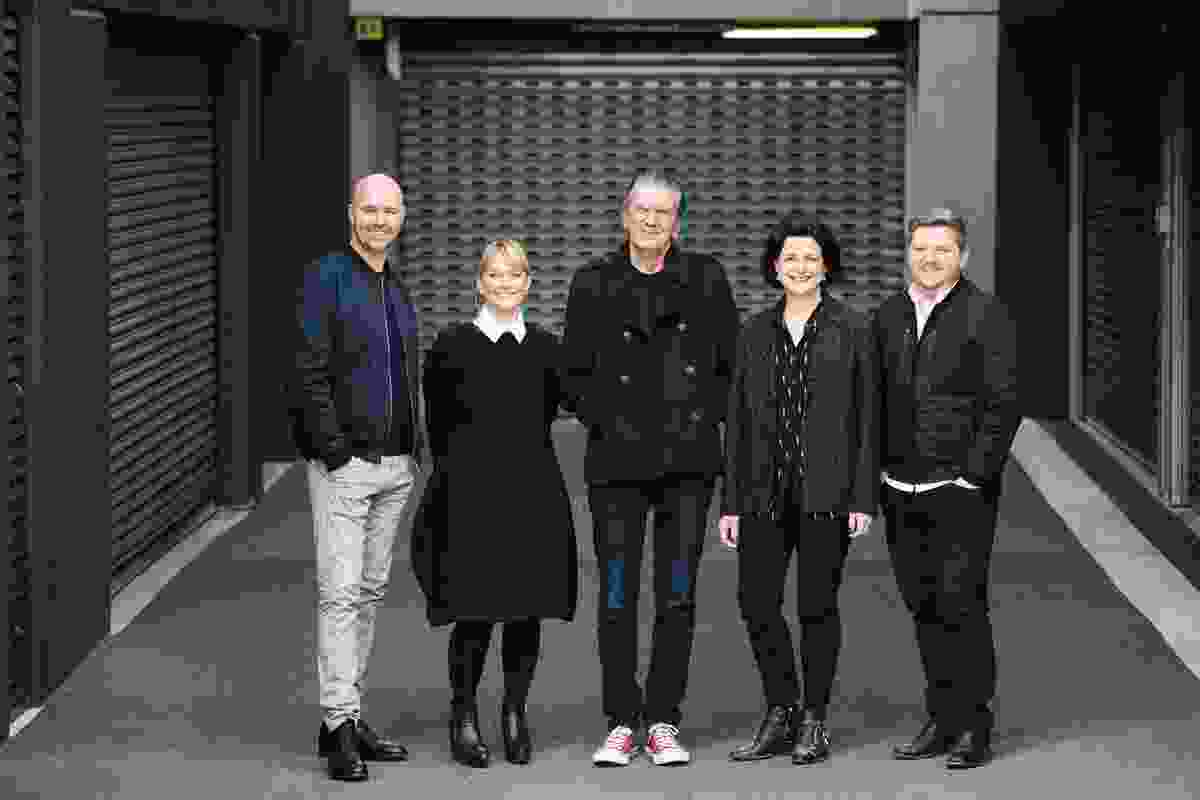 The 2016 jury, L–R: Hamish Guthrie, Adele Winteridge, Terry Durack, Julie Gibbs and Cameron Bruhn.
