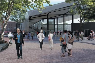 Designinc's redevelopment of Redfern Station will see the introduction of a six-metre-wide concourse across the rail corridor between Marian and Little Eveleigh streets.