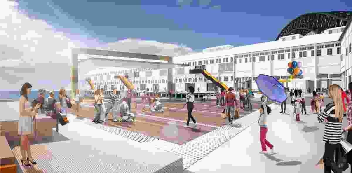 Concept design for Walsh Bay Arts Precinct prepared by Bates Smart.