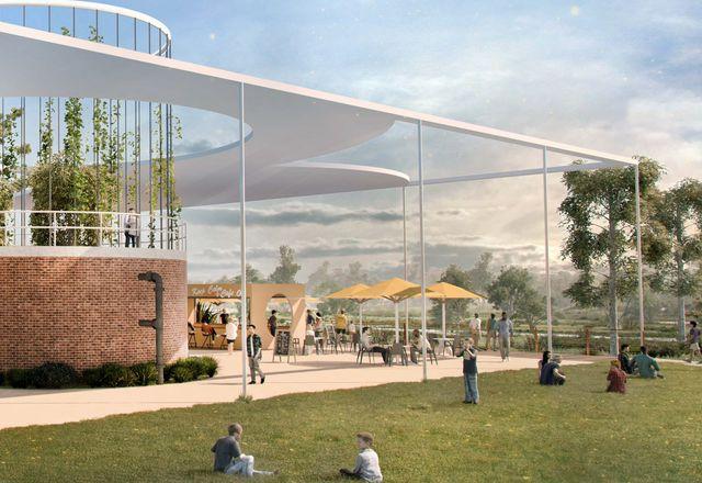 The Atrium, part of Place Design Group's Archerfield Wetlands precinct plan.