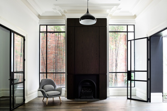 East Melbourne Terrace House by Woveridge Architects.