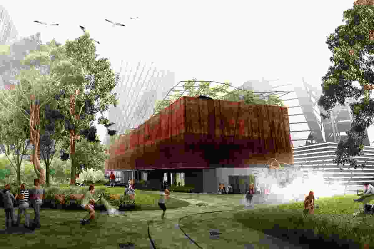 For the Green Square competition, Felix uses augmented reality to add a layer to the public space of the central plaza and library.