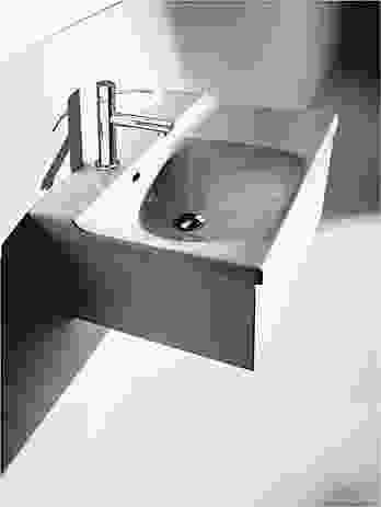 Buddy 100 wall-mounted basin by Italian brand Kerason.