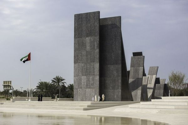 Wahat Al Karama, a monument at the United Arab Emirates Memorial Park in Abu Dhabi, designed by UAP, Bureau Proberts and British artist Idris Khan.