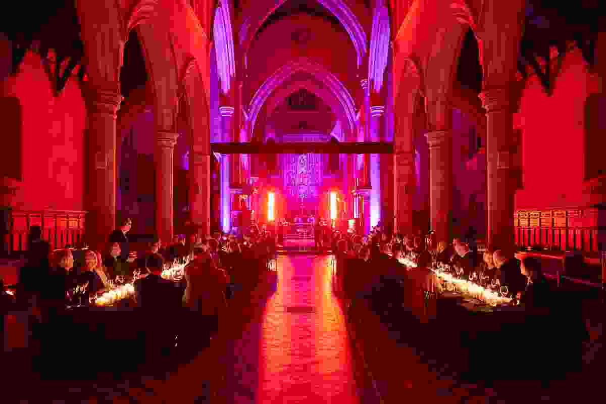The occasion was celebrated inside St. Peter's Cathedral.