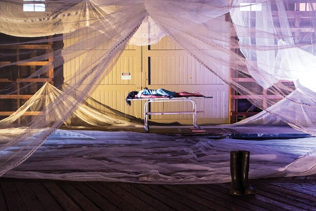 The Memory Room, by Carte-Blanche, made from mosquito netting.