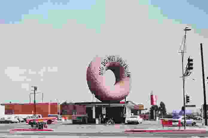 Big Donut Drive-in, Los Angeles, 1970.