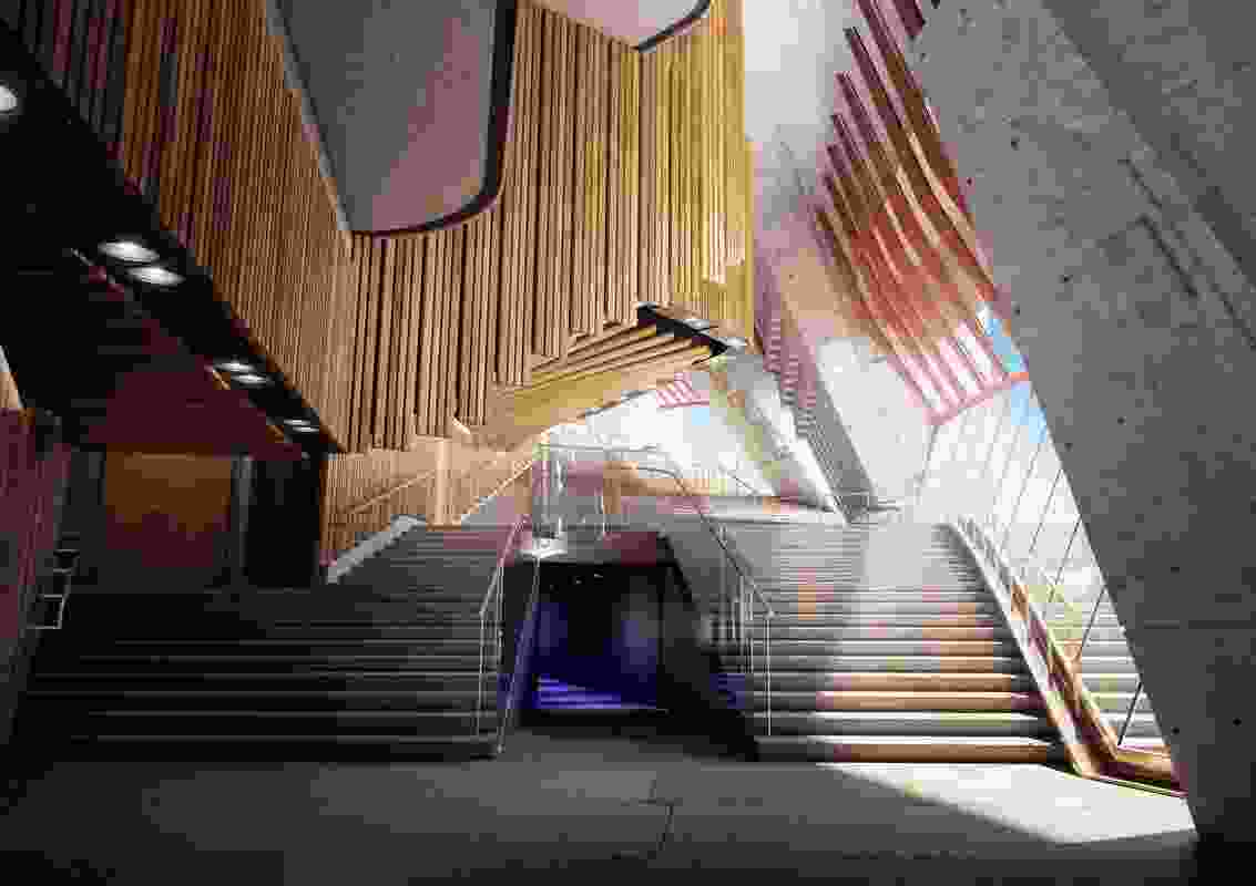 Designs for upgrades Sydney Opera House northern foyer by Tonkin Zulaikha Greer.