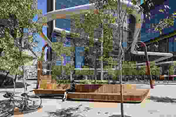 Manatj Park (Kings Square), Perth City Link by Plan E Landscape Architects with Iredale Pedersen Hook Architects and Lyons Architects