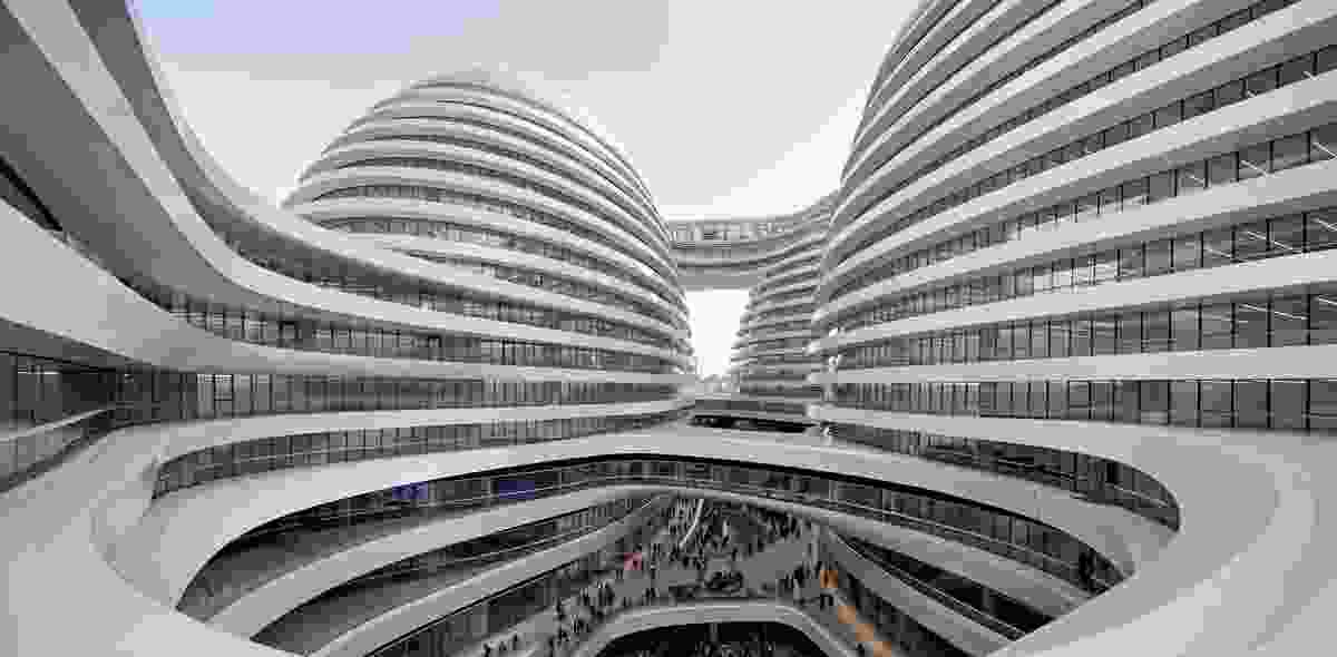 Galaxy Soho by Zaha Hadid Architects, a complex in Beijing that was completed in 2012 and attracted some criticism from local cultural heritage protection groups.