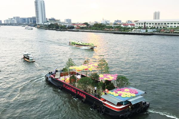 Developed for Bangkok Design Week 2018, Shma's The Floating Park transformed a disused river barge into an exhibition highlighting the need for more open green space in Bangkok.