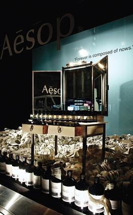 Aesop Myer window display.