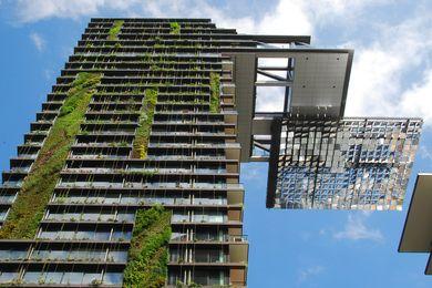 Jean Nouvel's One Central Park, Sydney apartment tower.