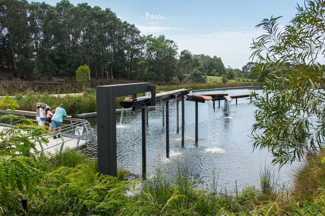 Turf Design Studio and Environmental Partnership won in the landscape category for Sydney Park Water Re-Use Project.