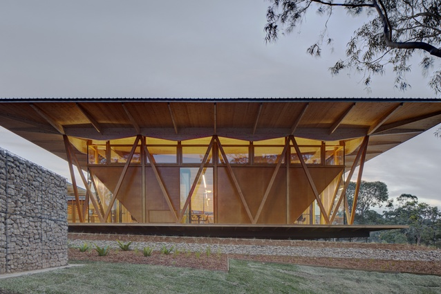 Macquarie University's prefabricated innovation hub, dubbed Incubator, by Architectus.