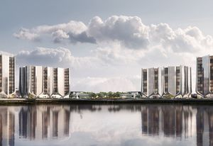 The Lanes residential towers, designed by Contreras Earl Architecture.