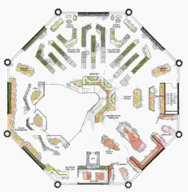 Plan of Ormond College Academic Centre by McGlashan Everist.