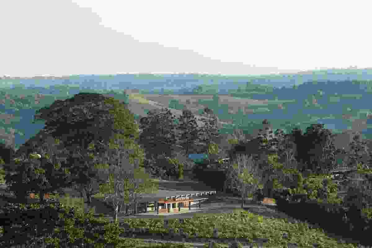 Shed 2 set into the landscape at Lune de Sang.