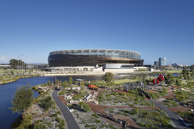 Optus Stadium Park by HASSELL.