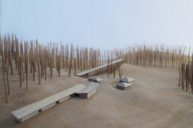 A model of the Riversdale expansion project by Kerstin Thompson Architects.