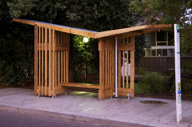City Of Nedland's Bus Shelter by UWA Faculty of Architecture, Landscape and Visual Arts, David Bylund.