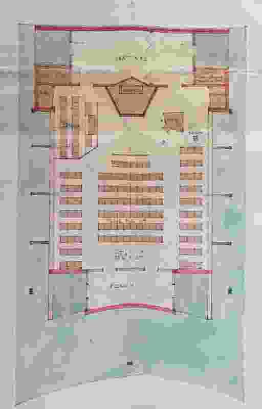 Katamatite Uniting Church floor plan.