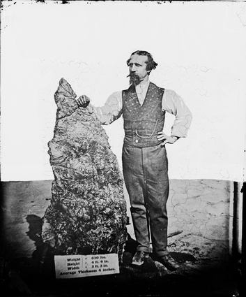 Bernhardt Otto Holtermann with the world's largest gold nugget.