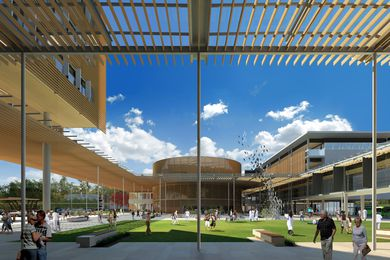 The Sunshine Coast University Hospital by Architectus and HDR Rice Daubney.