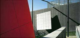 The neo-constructivist elements of the museum's southern aspect. Image: John Gollings