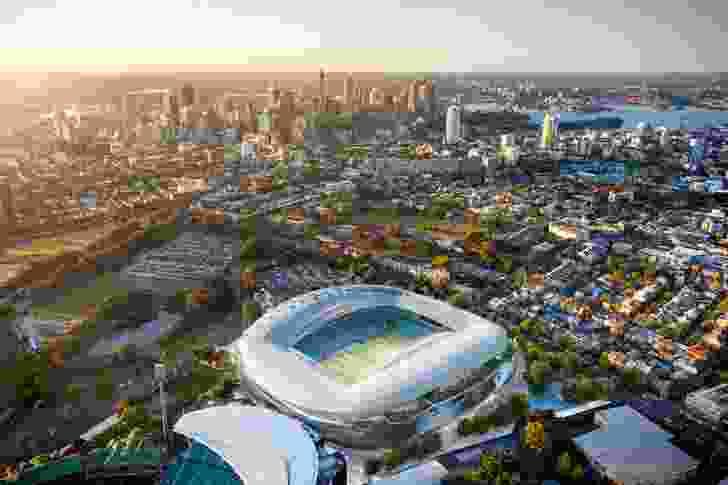 Cox Architecture's winning design for the Sydney Football Stadium.