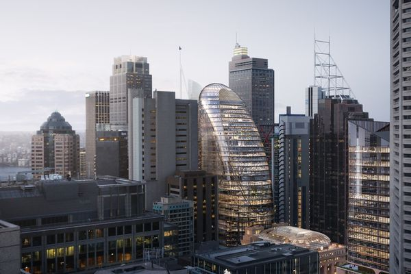 The proposed over-station development at Martin Place designed by Grimshaw Architects, Johnson Pilton Walker and Tzannes.