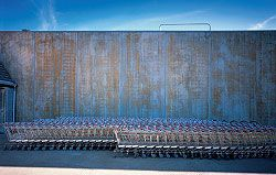 The supermarket's cladding – stained, corrugated concrete panels – playfully responds to Gisborne's rural context.
