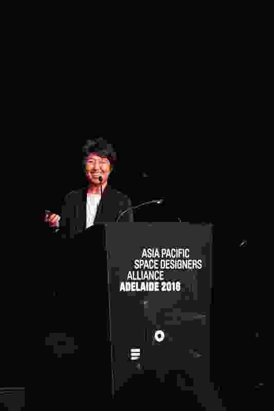 Speaker Momoyo Kaijima of Atelier Bow Wow presents at APSDA 2016.