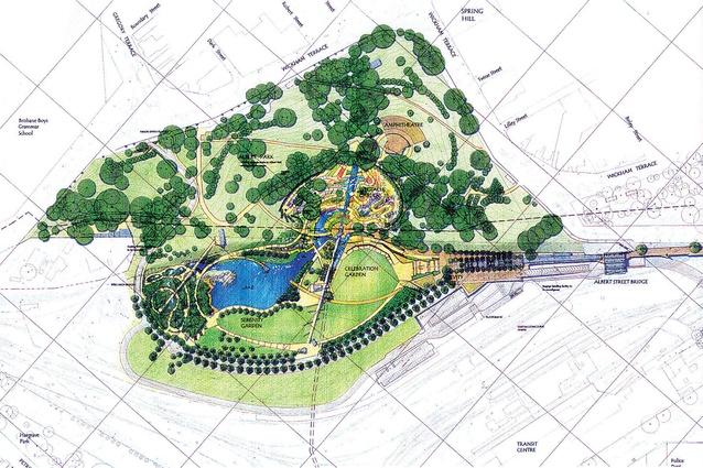 A sketch of the original masterplan.