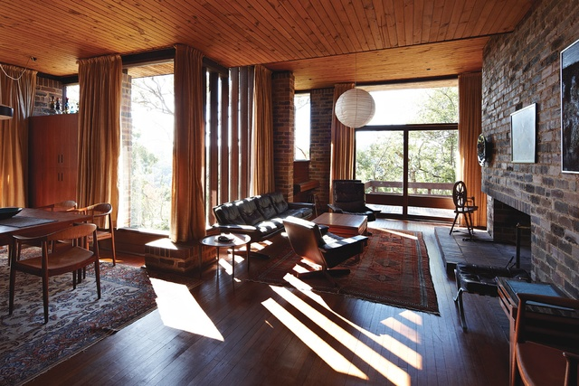 Baudish house 1964 revisited architectureau - Standard living room size australia ...