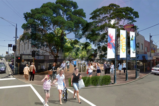 Pedestrian heart 39 proposed for melbourne s camberwell for Urban planning firms melbourne