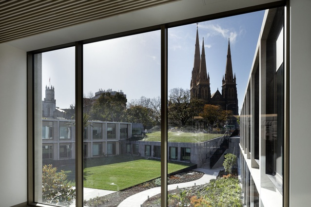 The new building is designed to protect view to St Patricks Cathedral.