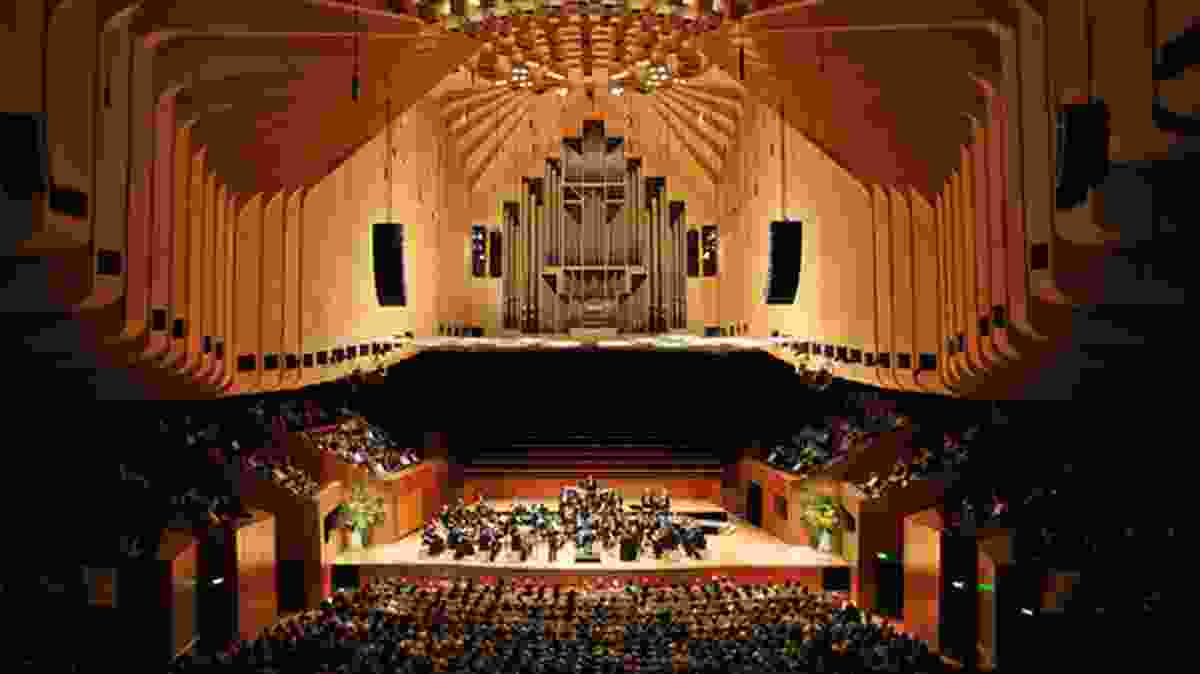 The Concert Hall in the Sydney Opera House by Jørn Utzon, 1973