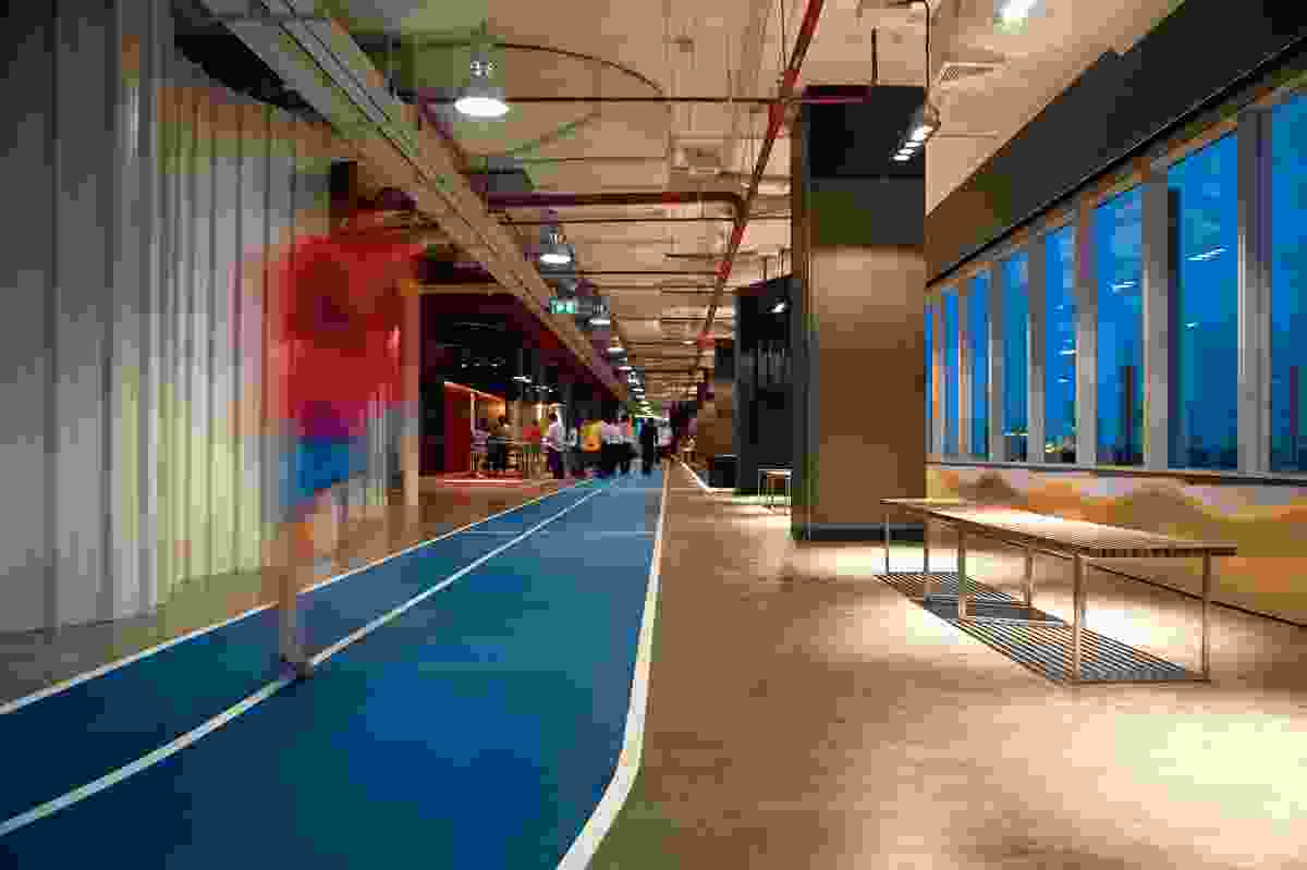 A balanced and healthy lifestyle are important parts of DTAC's philosophy, hence the indoor 