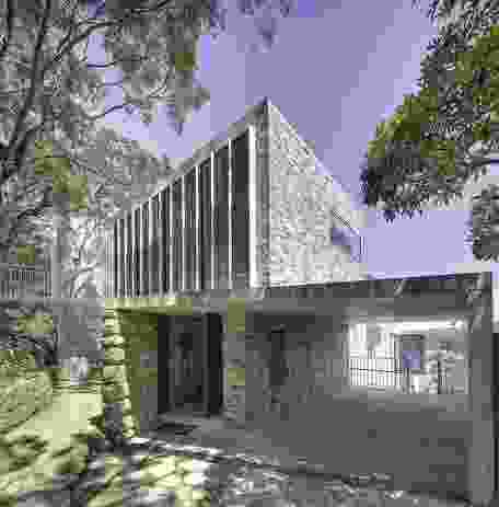 Castlecrag, Sydney, NSW: The house uses bricks recycled from the client's grandfather's house.