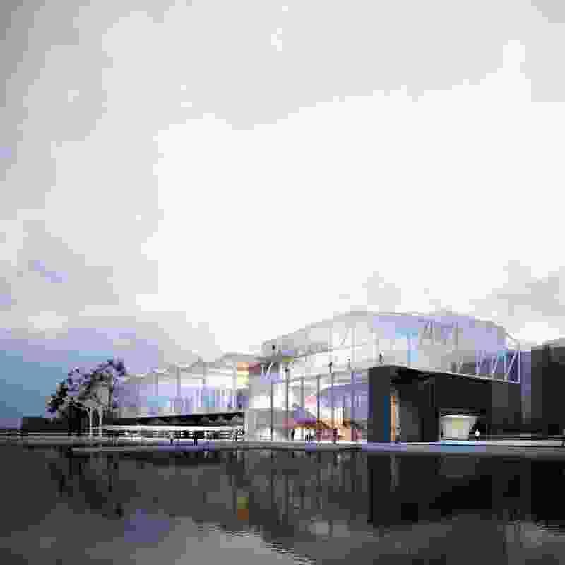 Indicative render of proposed Power House Community Hub by John Wardle Architects.