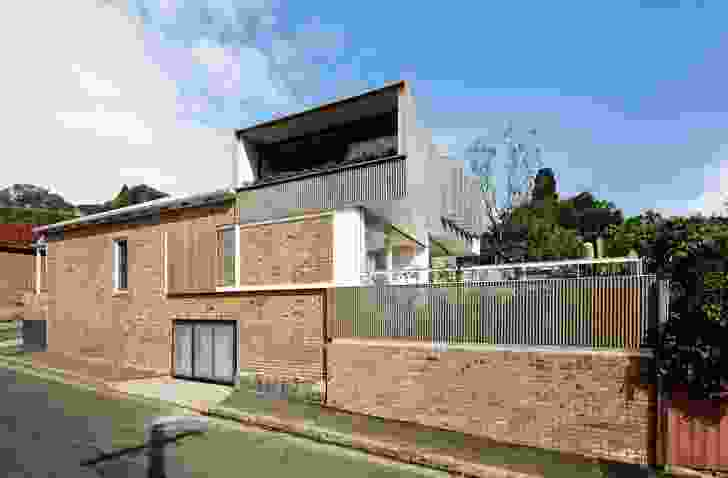 Two main dwellings of the Balmain Houses are augmented by a third studio space.