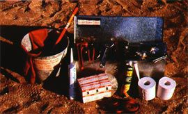 The tool kit used by the Aboriginal Survey Fix teams.