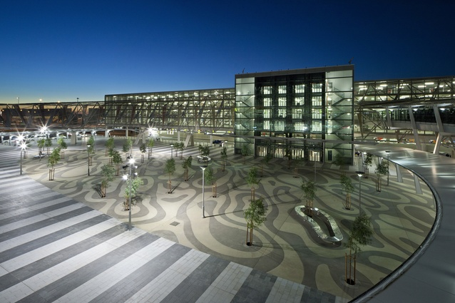 Adelaide Airport Landside by TCL with Woodhead Architects, Mark Stoner and Waterforms Australia.