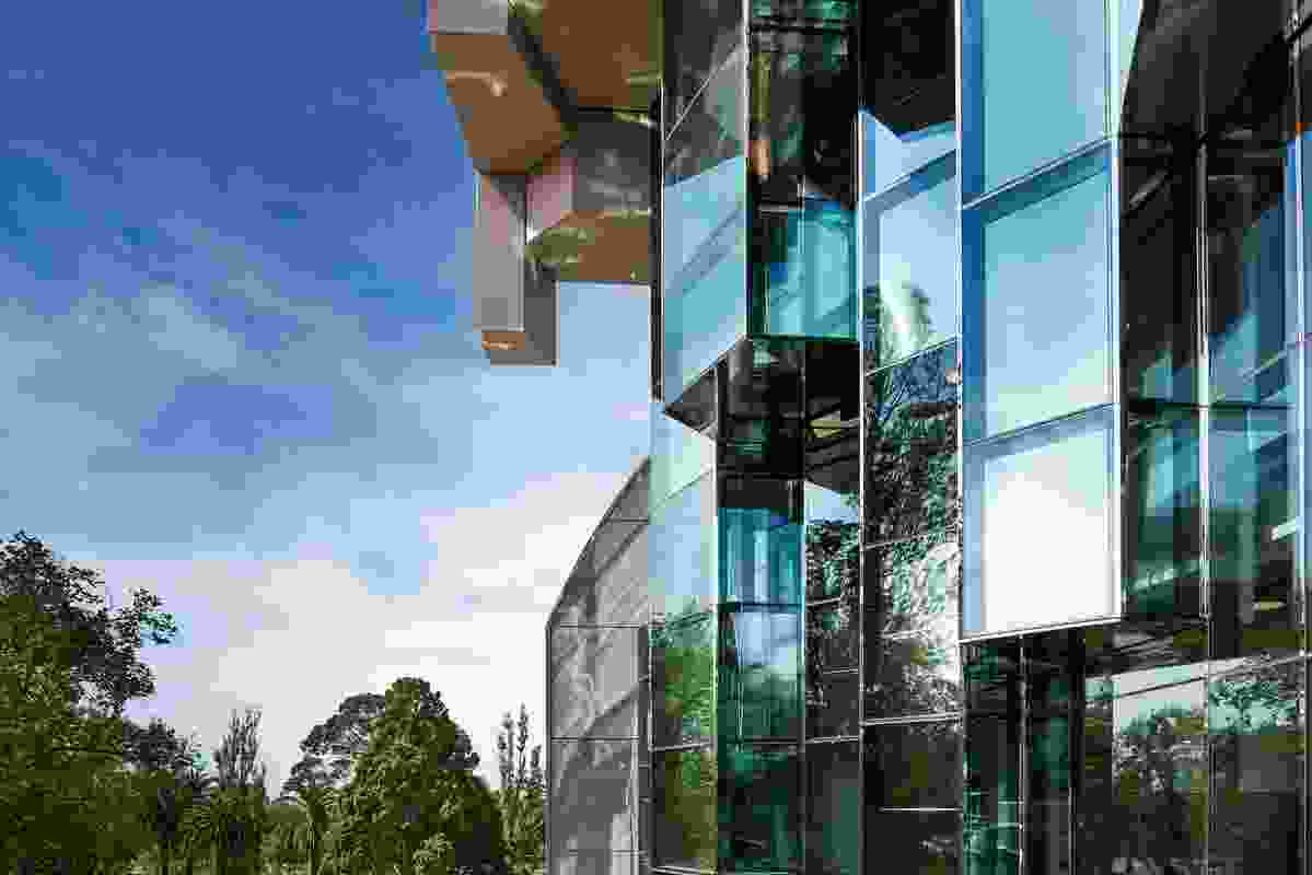 """The west facade of theGeelong Library and Heritage Centre by ARM Architecture is conceived as a """"grotto."""""""