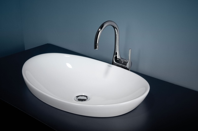Caroma Pearl inset basin.