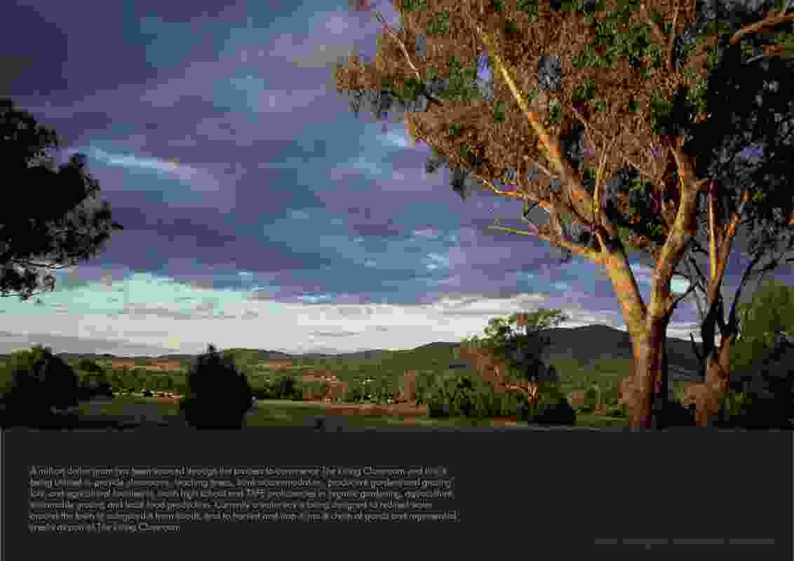 Site for the Living Classroom in Bingara's town common.