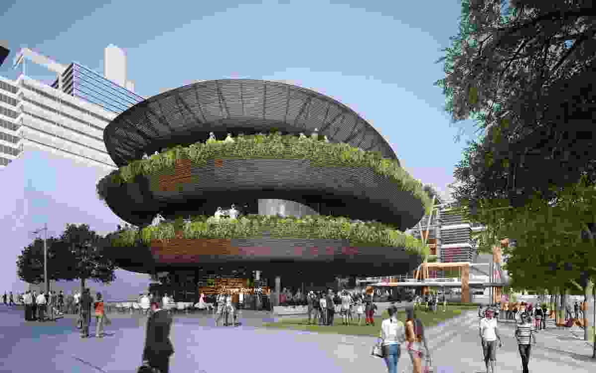 Collins and Turner's design of the proposed Barangaroo restaurant is inspired by stacks of bowls.