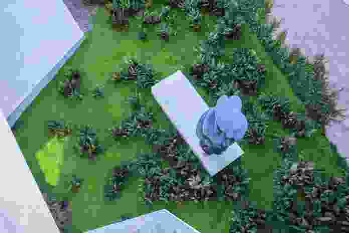 Sculpture Garden designed by Daniel Baffsky (360 Degrees Landscape Architects), with an emphasis on rich groundcovers.