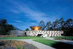 Overview of the Australian Wildlife Health Centre at the Healesville Sanctuary, seen on approach. Image: Peter Bennetts